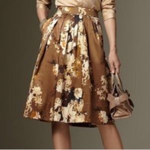 Talbots Neutrals Floral A Line Full Skirt